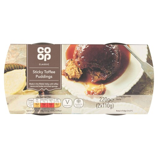 Picture of Co Op Classic Sticky Toffee Puddings 2 x 110g (220g)
