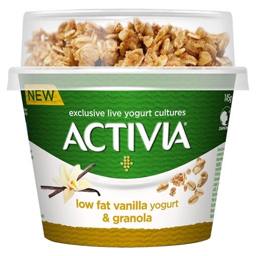 Picture of Activia Low Fat Vanilla Yogurt & Granola 165g