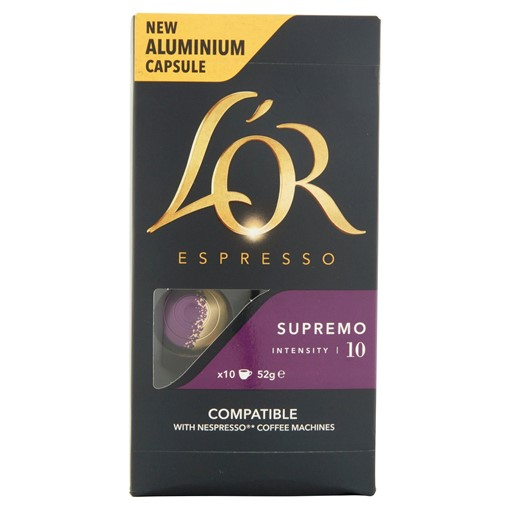 Picture of L'OR Espresso Supremo Intensity 10 Aluminium Coffee Pods x10