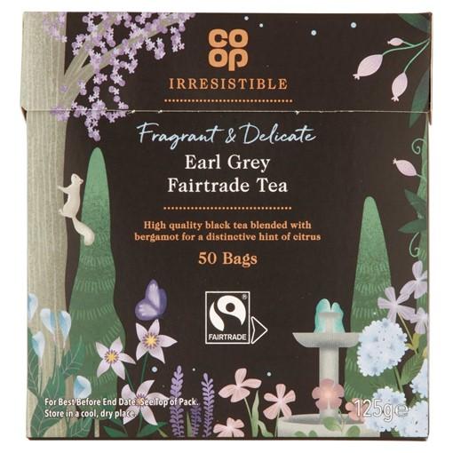 Picture of Co-op Irresistible Earl Grey Fairtrade Tea 50 Bags 125g