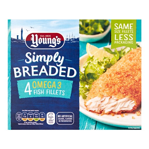 Picture of Youngs Simply Breaded Omega 3 Fish