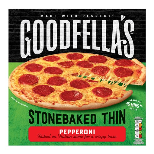 Picture of Goodfellas Thin Pepperoni Pizza 332