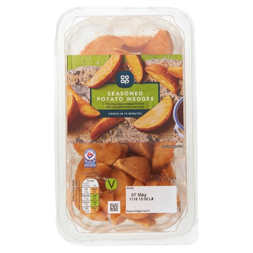 Picture of Co-op Seasoned Potato Wedges 320g