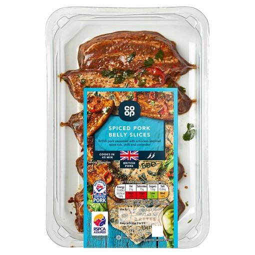 Picture of Co-op Spiced Pork Belly Slices 340g