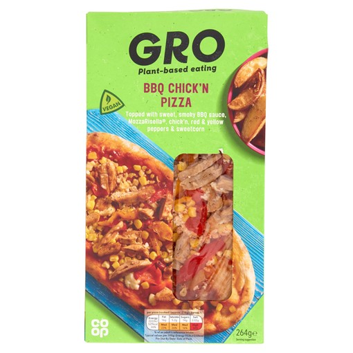 Picture of Co-op GRO BBQ Chick'n Pizza 264g
