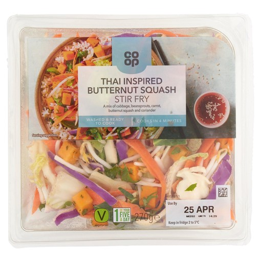 Picture of Co-op Thai Inspired Butternut Squash Stir Fry 270g