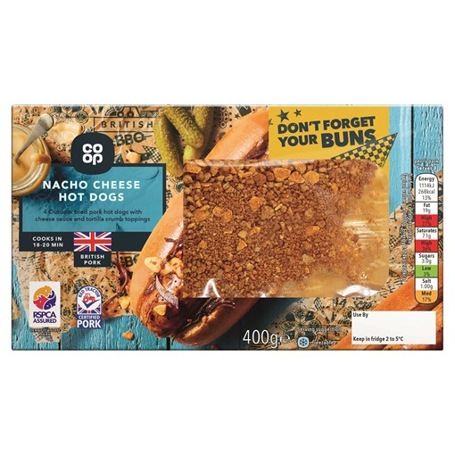 Picture of Co-op Nacho Cheese Hot Dogs 400g