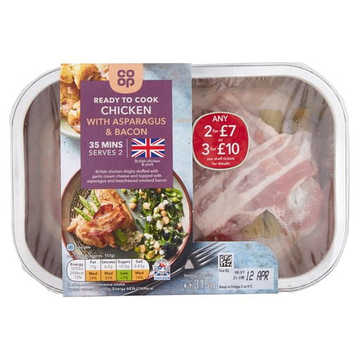 Picture of Co-op Ready to Cook Chicken with Asparagus & Bacon 315g