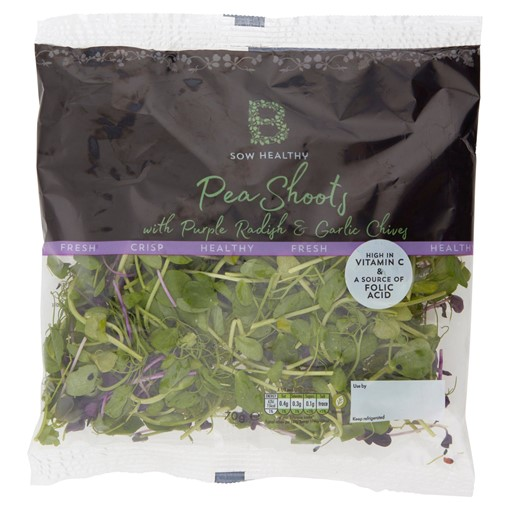 Picture of B Sow Healthy Pea Shoots with Purple Radish & Garlic Chives 70g