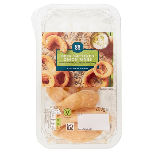 Picture of Co-op Beer Battered Onion Rings 200g