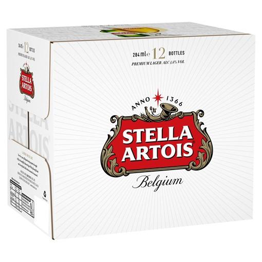Picture of Stella Artois Belgium Premium Lager 12 x 284ml