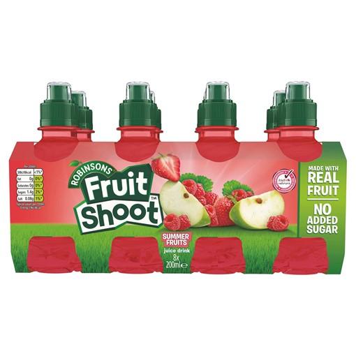 Picture of Fruit Shoot Summer Fruits Kids Juice Drink 8 x 200ml