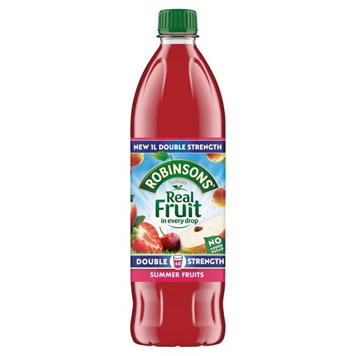 Picture of Robinsons Double Strength Summer Fruits No Added Sugar Fruit Squash 1 L
