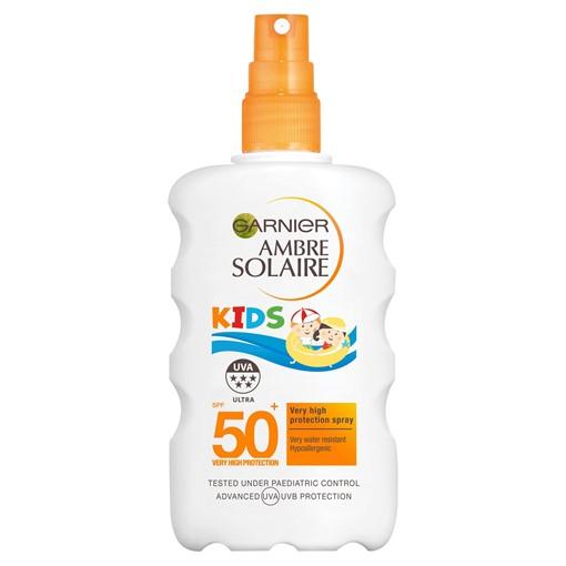 Picture of Garnier Ambre Solaire Kids Water Resistant Sun Cream Spray SPF50+ 200ml