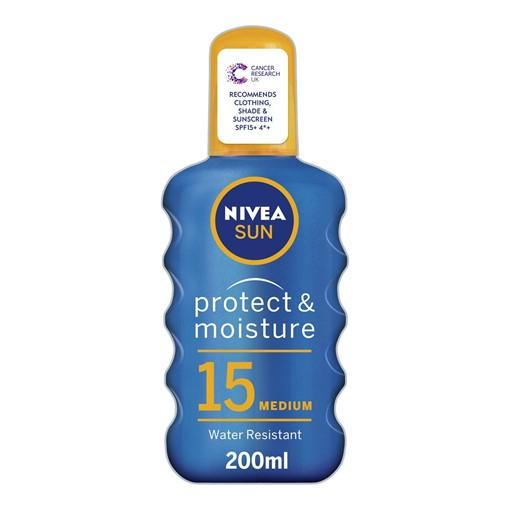 Picture of NIVEA SUN Protect & Moisture Sunscreen Spray SPF 15 200ml