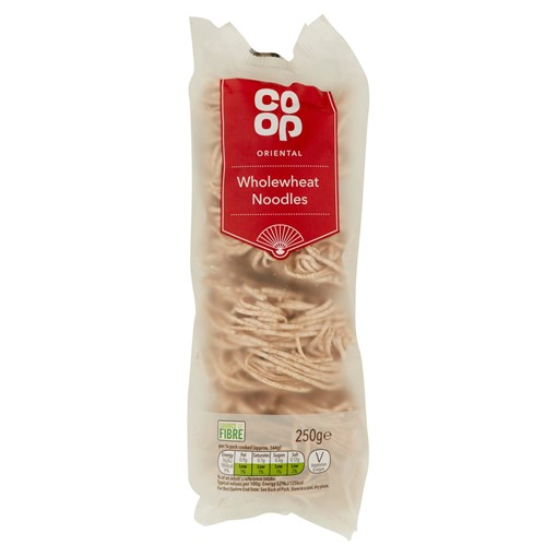 Picture of Co-op Oriental Wholewheat Noodles 250g