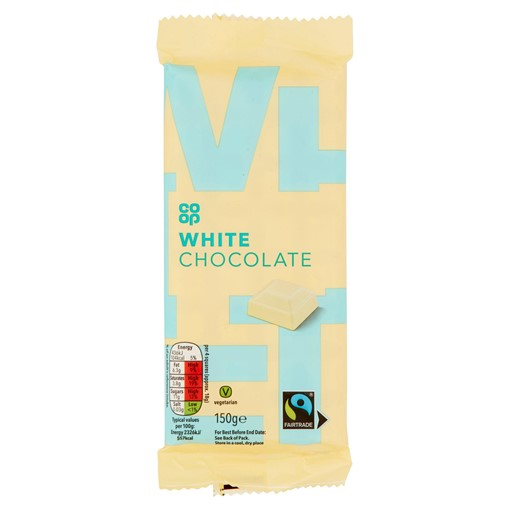 Picture of Co-op Fairtrade White Chocolate 150g
