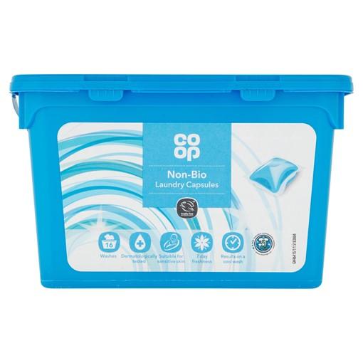 Picture of Co-op Non-Bio Laundry Capsules 16 x 24.5ml (392ml)