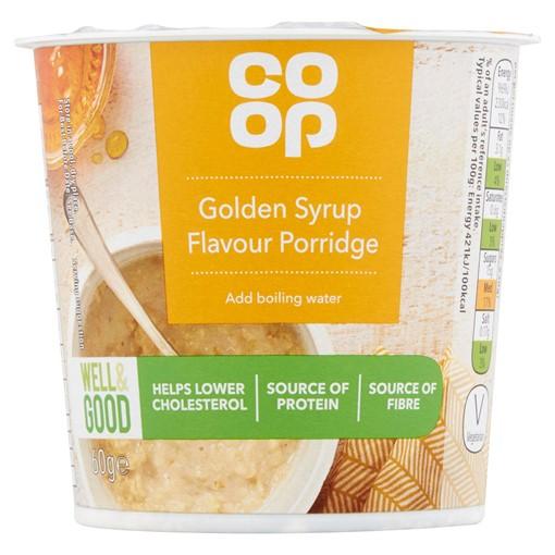 Picture of Co-op Golden Syrup Flavour Porridge 60g