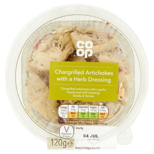 Picture of Co-op Chargrilled Artichokes with a Herb Dressing 120g