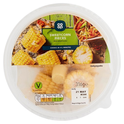Picture of Co-op Sweetcorn Pieces 316g