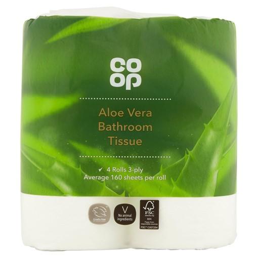 Picture of Co Op Aloe Vera Bathroom Tissue 3-Ply 4 Rolls
