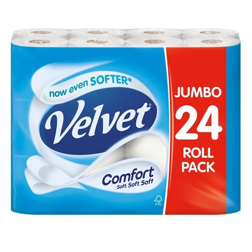 Picture of Velvet Comfort 24 Toilet Rolls