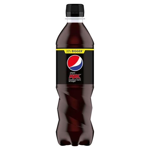 Picture of Pepsi Max No Sugar Cola Bottle 600ml