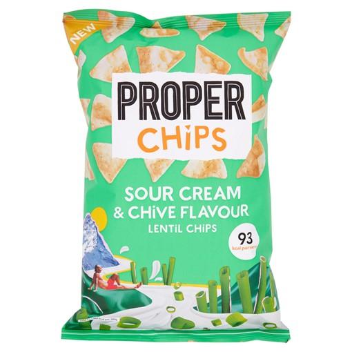 Picture of PROPERCHIPS Sour Cream & Chive Flavour Lentil Chips 85g