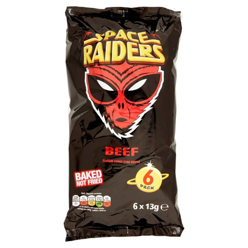 Picture of Space Raiders Beef Multipack Crisps 6 Pack