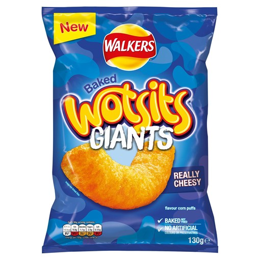 Picture of Walkers Wotsits Giants Really Cheesy Snacks 130g