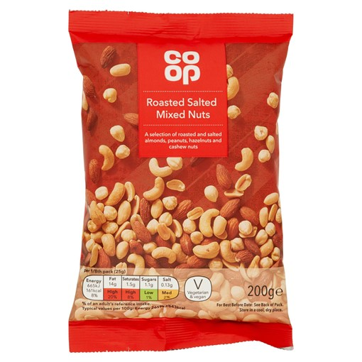 Picture of Co-op Roasted Salted Mixed Nuts 200g