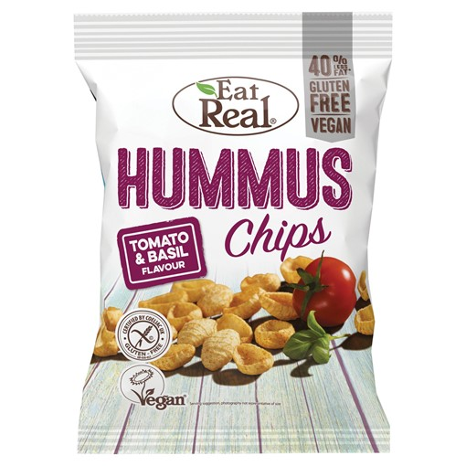 Picture of Eat Real Hummus Chips Tomato & Basil Flavour 135g