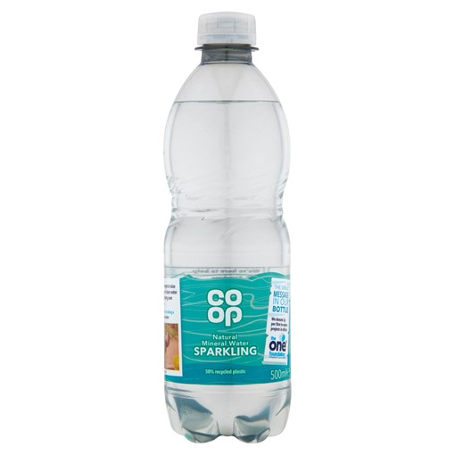 Picture of Co-op Natural Mineral Water Sparkling 500ml