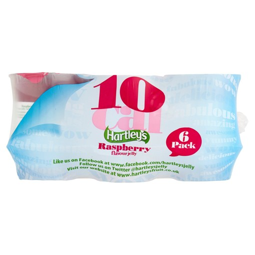 Picture of Hartley's Raspberry Flavour Jelly 6 x 175g