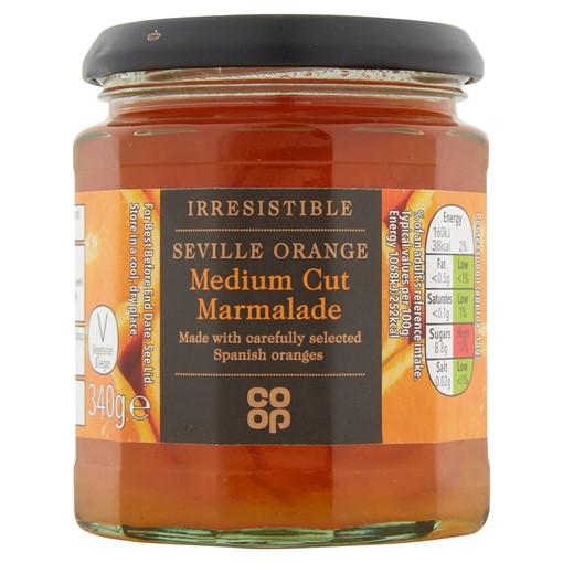 Picture of Co-op Irresistible Seville Orange Medium Cut Marmalade 340g