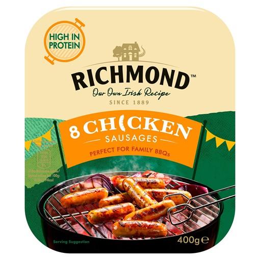 Picture of Richmond 8 Chicken Sausages 400g