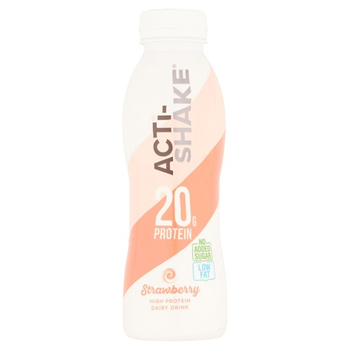 Picture of Acti-Shake Strawberry High Protein Dairy Drink 358ml