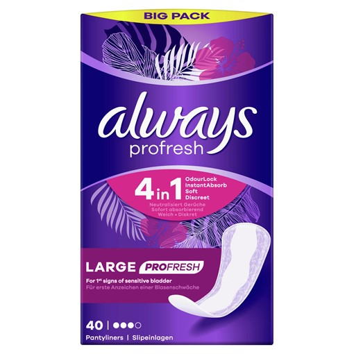 Picture of Always Dailies Large Profresh Panty Liners x 40