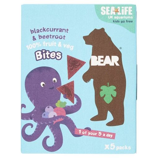 Picture of BEAR Blackcurrant + Beetroot Bites 5 x 18g