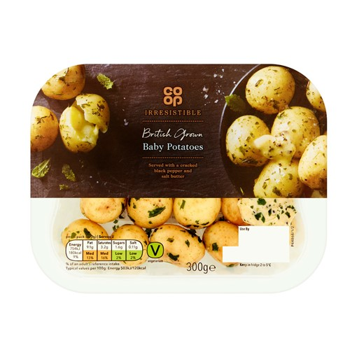 Picture of Co-op Irresistible British Grown Baby Potatoes 300g