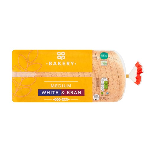 Picture of Co-op Bakery Medium White & Bran 800g