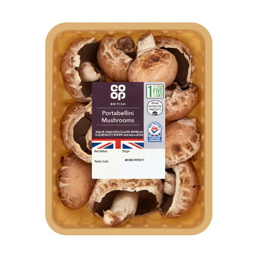 Picture of Co-op British Portabellini Mushrooms 200g