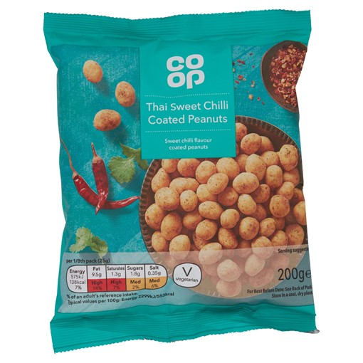 Picture of Co-op Thai Sweet Chilli Coated Peanuts 200g