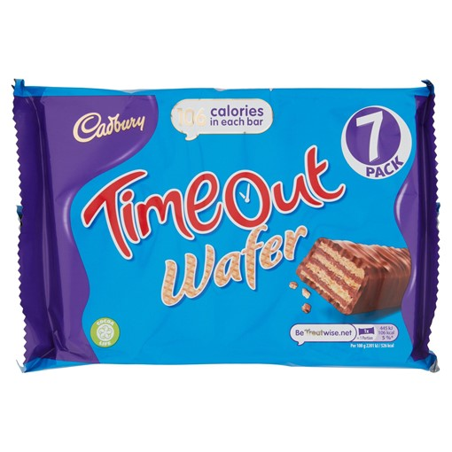 Picture of Cadbury Timeout Wafer Bar 7 Pack 141.4g