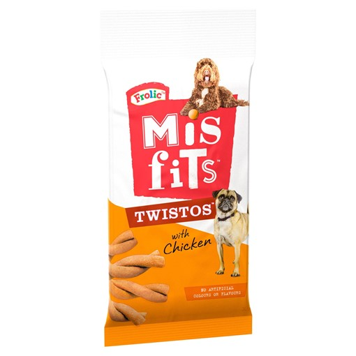 Picture of Misfits Twistos Dog Treats with Chicken 105g