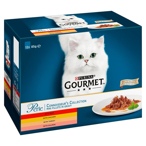 Picture of Gourmet Perle Connoisseurs Cat Food Mixed 12 x 85g