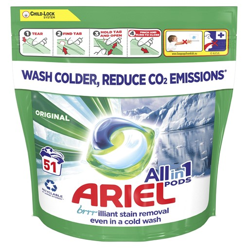 Picture of Ariel All-in-1 PODs Washing Liquid Capsules Original, 51 Washes