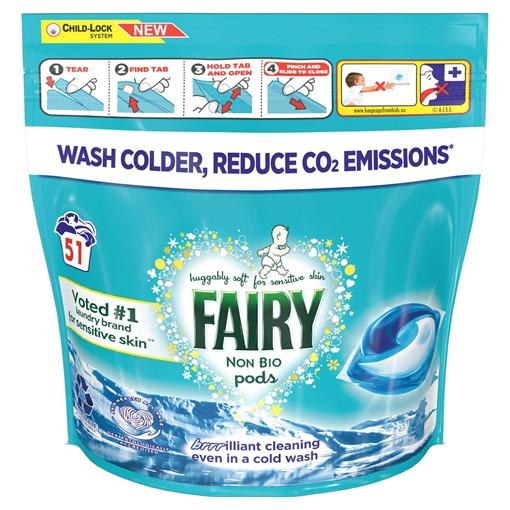 Picture of Fairy Non Bio Pods Washing Liquid Capsules 51 Washes