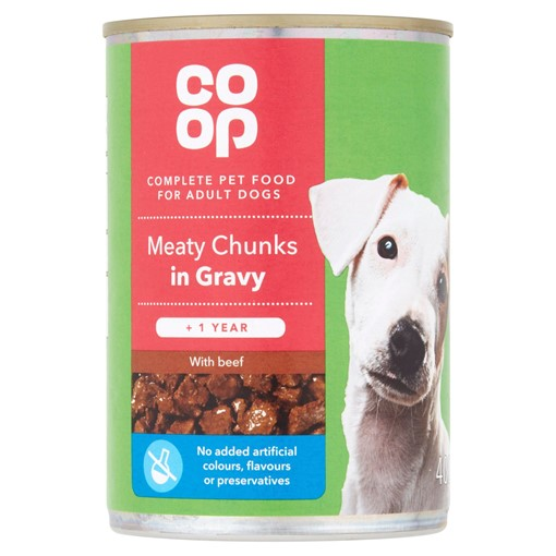 Picture of Co-op Meaty Chunks in Gravy with Beef + 1 Year 400g